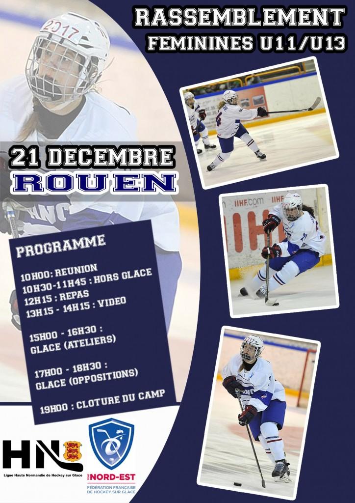 Journée Féminines U11-U13 à Rouen – Lundi 21 décembre 2015