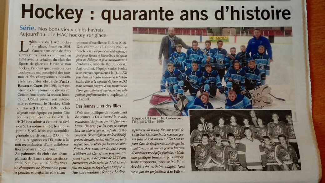 Le HAC Hockey dans Paris Normandie