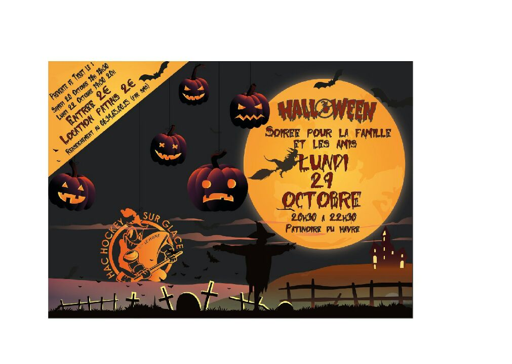La soirée Halloween, c'est lundi !