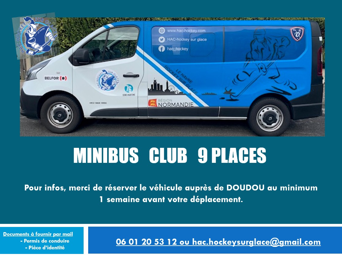 Message concernant l'emprunt du minibus